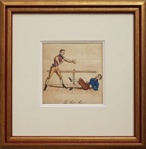handfight engraving boxing vintage print original boks prent 1835 gevecht fight england engeland united kingdom classic british gentleman boxing duel vintage original handcoloured handcolored antique engraving handgekleurde gravure originele original origineel boksen handfight handgevecht antiek art skoander.com