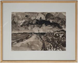 piet wiegman schilderij tekening inkttekening jan wiegman, mathieu wiegman heemstede noord holland kunst zij ons doel landschap schilder tekenaar graficus skoander.com