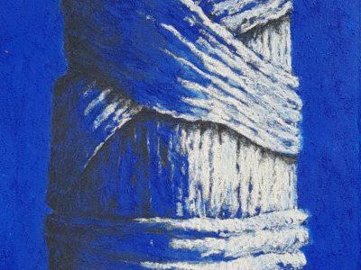 age hartsuiker schilderij krijt doek wethouder raadslid heerenveen kunstschilder curator kunstenaar friesland jubbega online kunst kopen graficus hartsuiker ets eigen druk niets is zonder grond museaal museale kunst blauw schilderij friese kunst boom loof natuur skoander bisit skoander.com