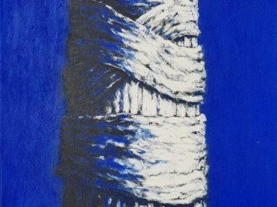 age hartsuiker schilderij friese kunst kunstenaar kunstschilder etser ets grafiek curator galeriehouder wethouder raadslid mepppel jubbega heerenveen politiek lokaal online galerie kunst kopen blauw schilderij schilder canvas doek krijt te koop bomen loof natuur ets graficus skoander.com lijstenmaker heerenveen