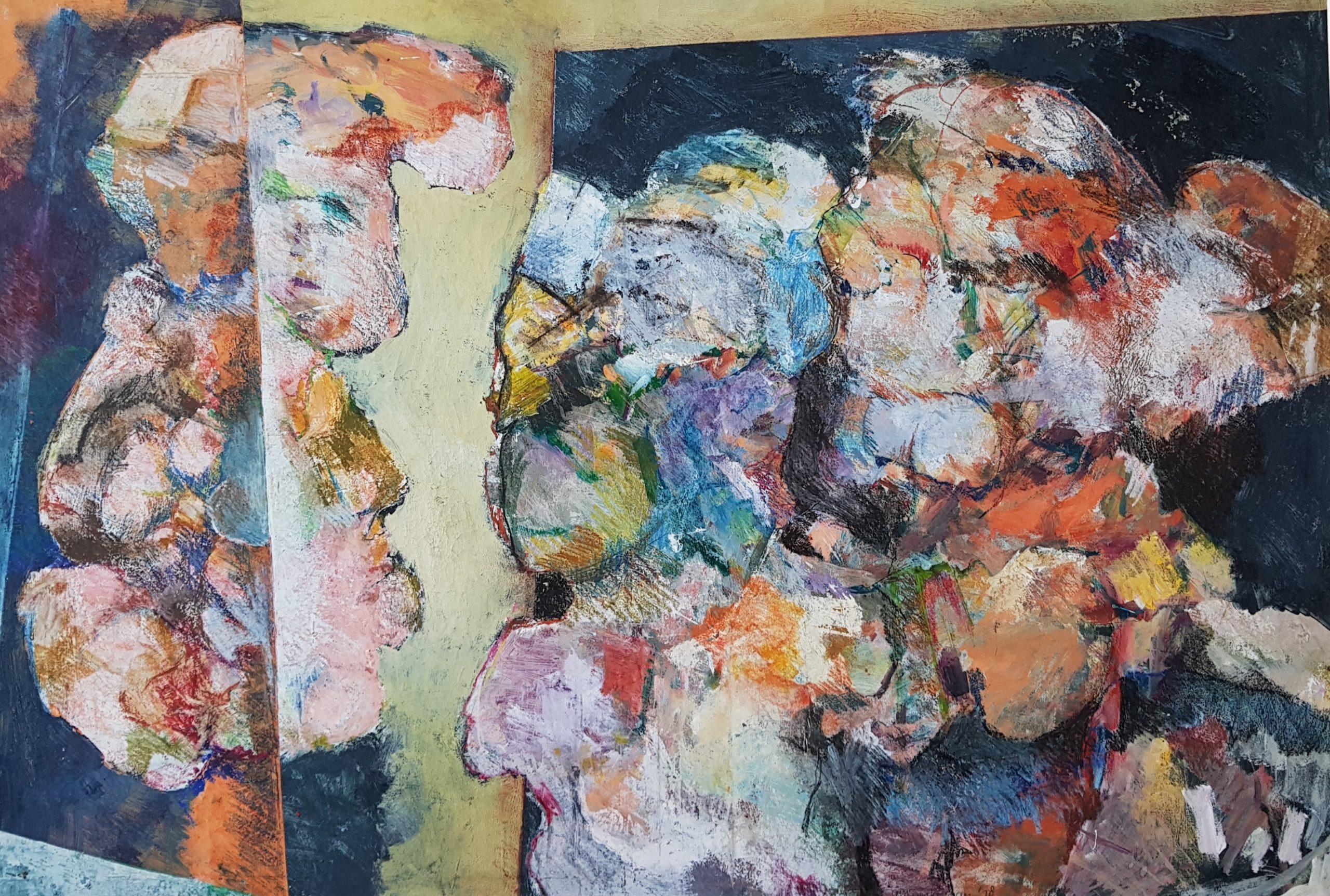 annemarie spijkerman schilderij haagse school haagse kunstkring abstracte kunst kunstwerk velp gravelande kunstenares annelies spijkerman den haag kunstenaar moderne kunst kleurrijke kunst schilderes kunstenares skoander.com