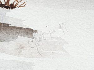 griet atsma grietje grietsje atsma van dellen schilderij gouache aquarel lijstenmaker heerenveen surhuisterveen fryske keunst friesland kunstschilder achtkarspelen friesland friese kunst kunstenaar aquarel schilderij landschap skoander bisit skoander.com