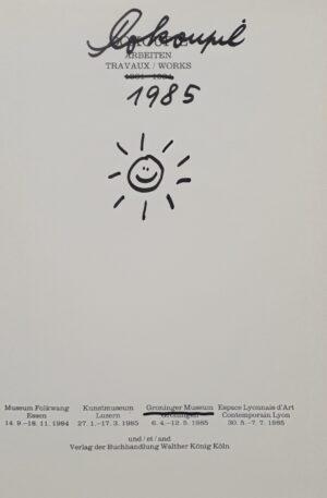 jiri georg dokoupil signed book gesigneerd boek tjechisch tjechie czech krnov duitsland germany signed art book gesigneerd kunst boek arbeiten travaux works 1982 - 1984, signed 1985 essen luzern groninger museum lyon groningen skoander bisit skoander.com