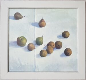 siene de vries schilderij schilder kunstenaar kunstschilder drachten friesland new zealand dutch art friese kunst fine art stilleven met peren still life pears oilpainting canvas olieverf doek skoander bisit skoander.com lijstenmaker heerenveen lijstenmaker falkenaweg friese kunstenaar frisian art painting