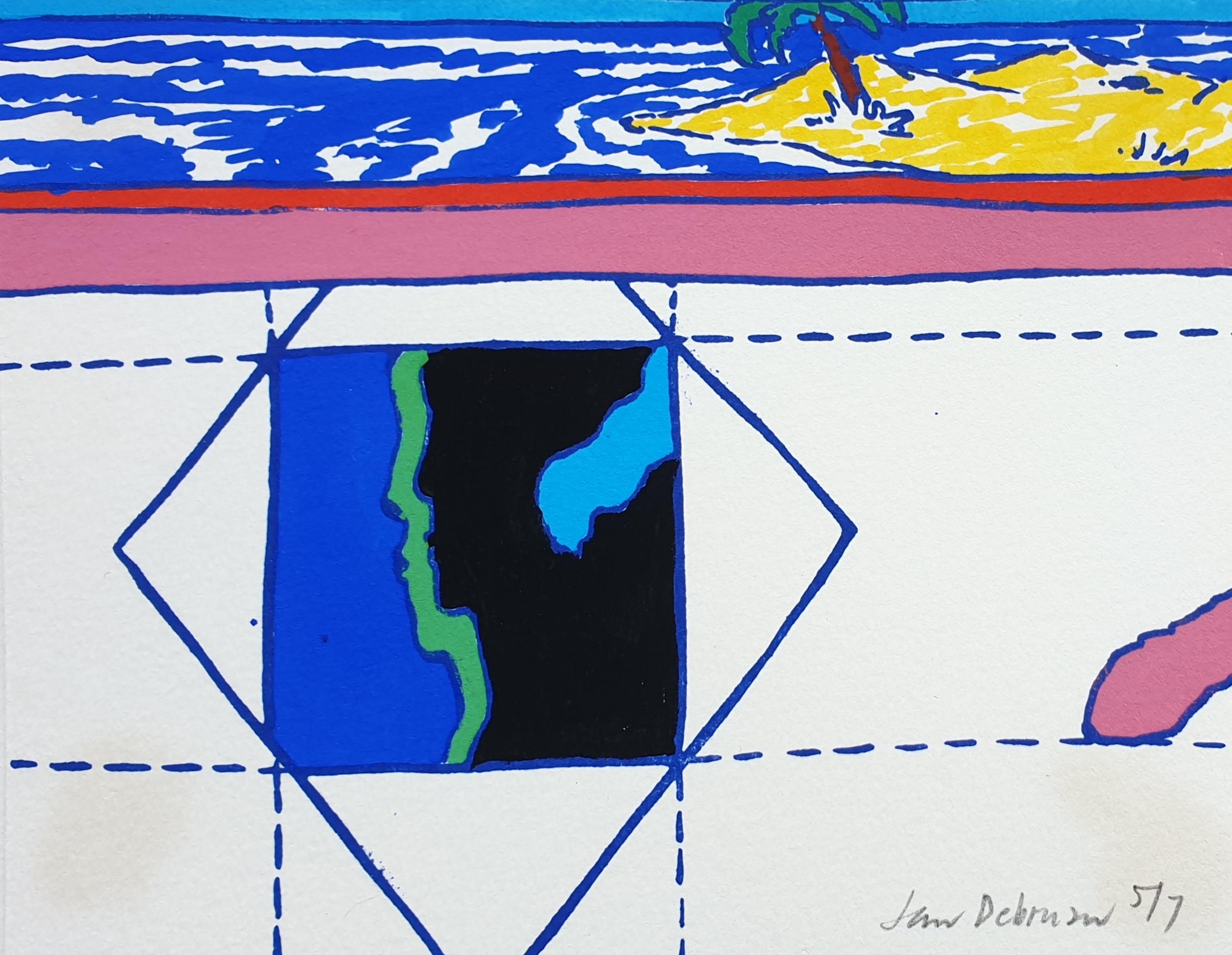 jan de bruin zeefdruk kunst Leeuwarden Friesland Friese zeefdruk grafiek litho kunstenaar kunstschilder friese kunstenaar graficus Jubbega Groningen Bakkeveen graficus nu zeven beeldhouwer kunstenaar schilder Skoander (2)