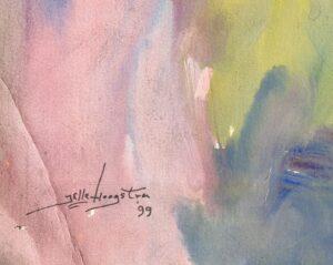 jelle hoogstra schilderij kunst gouache olieverf doek papier kunstschilder leeuwarden friesland rotterdam kunstenaar overleden friese kunst kunstenaar schilder abstract abstractie david bautz aart glansdorp henri van lerven skoander.com