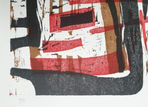 guido llinas cuban artist art cuba cuban artist cuba painter paintre pinar del rio france paris fine art cuban art worth price precio value kunst woodcut houtsnede lijstenmaker heerenveen dark red meranti frame signed gesigneerd fine art kunsthandel abstract skoander.com