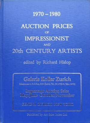 richard hislop 1970 1980 auction prices of impressionist and 20th century artists auction sales painting worth price value prices artist waarde kunst schilderijen kunstenaars schilderkunt schilders veilingprijzen art sales index ltd 2 delen veiling skoander.com