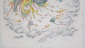 thisa schut friesland friese kunst zegveld sneek schilderijen snits gemengde techniek skoander bisit kunstenaar schilder tekening yin yang art friesland woerden utrecht skoander.com