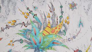 tekening thisa schut gemengde techniek schilderij doek papier friese kunst zegveld sneek kunstenaar friesland kunstenaar schilder tekening skoander bisit yin yang art friesland woerden utrecht skoander.com