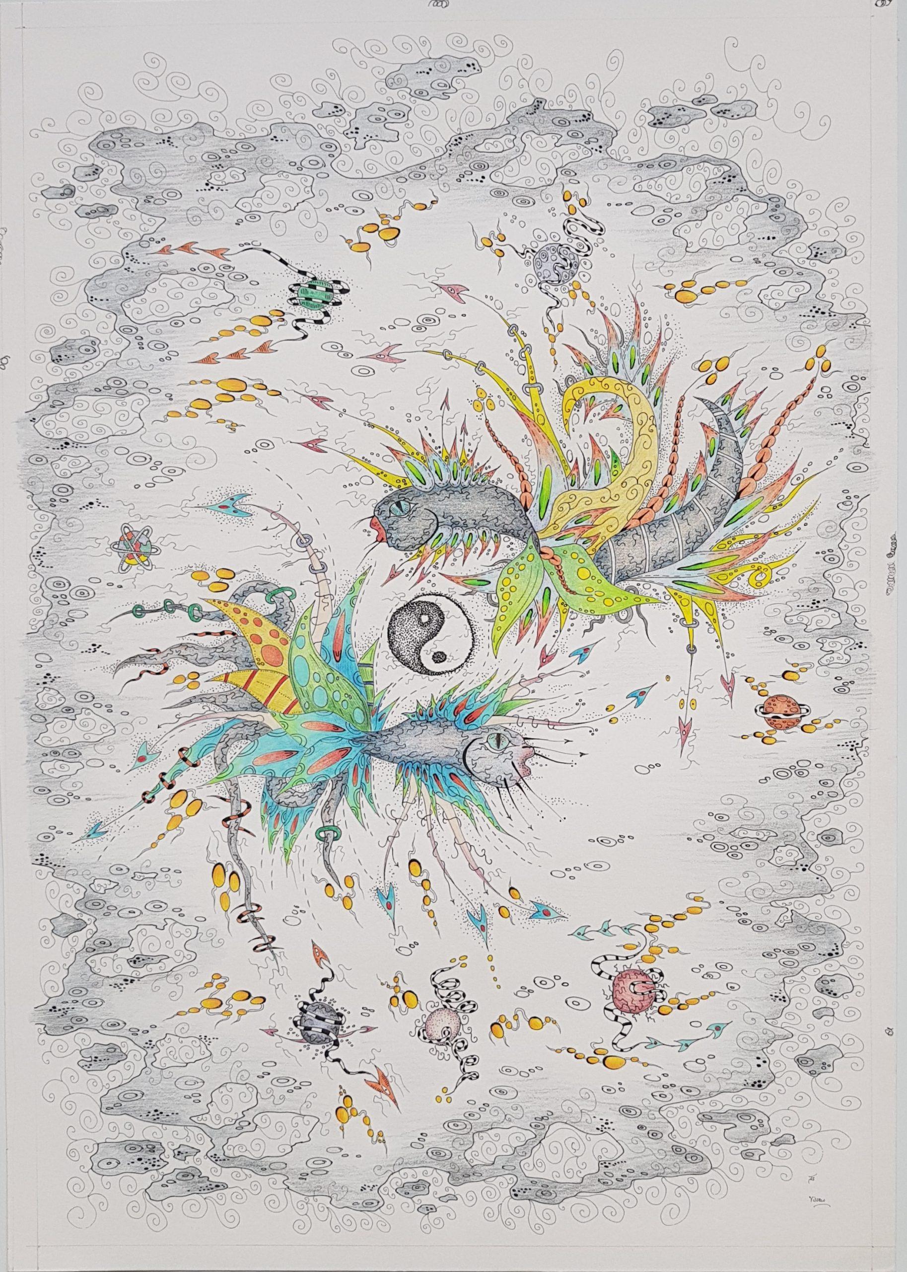 thisa schut lijstenmaker heerenveen friese kunst friesland kunstschilder schilderij gemengde techniek pentekening zegveld sneek skoander bisit kunstenaar schilder tekening yin yang art friesland woerden utrecht skoander.com