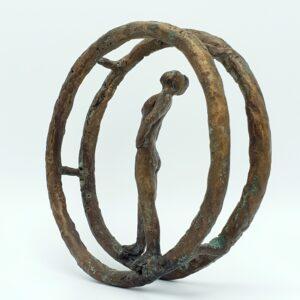 leny rochter kunstler deutschland bildhauer skulptur sculpture sculptuur brons bronze bronzen beeld bild frau vrouw moderner kunst kunst art skoander.com