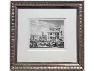 gravure nicolaas van der meer groningen, door den graave van rennenberg, aan de spaansche zijde overgebragt, in 't jaar 1580 gravure groningen rennenberg stad groningen kunst skoander.com