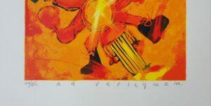 ad verstijnen zeefdruk motorrijder ad verstijnen kunstenaar ad verstijnen schilderij ad verstijnen kunstschilder zeefdruk motorrijdertje skoander.com