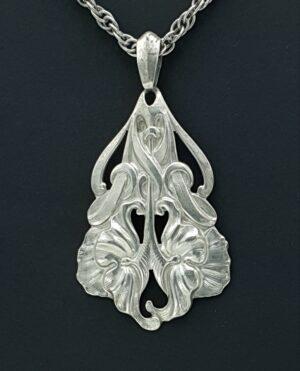 jugendstil schoonhoven zilver adam meijer zilver adam meyer zilver artnouveau art nouveau jugendstihl hanger ketting skoander