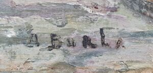 a burla signatuur a burla doorkijkje a burka stadsgezicht a burla schilderij a burla kunstenaar skoander.com