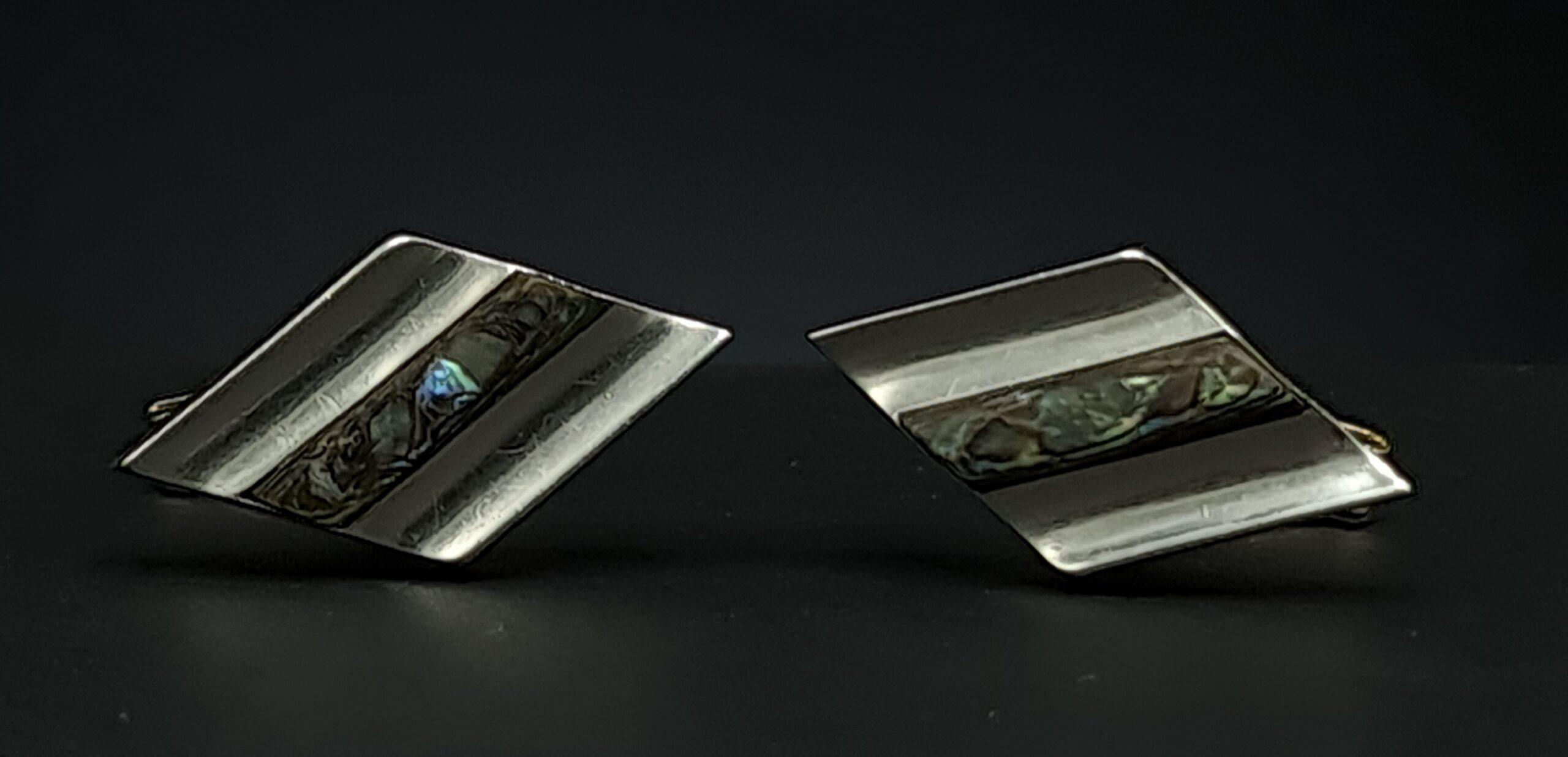 taxco bo cufflinks taxco bo manchetknopen set manchetknopen 925 zilver taxco sterling cufflinks abalone set cufflinks taxco mexico skoander.com