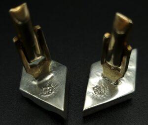 manchetknopen sterling zilver manchetknopen 925 zilver taxco bo sterling bo makersmark taxco silver handgemaakte manchetknopen skoander.com