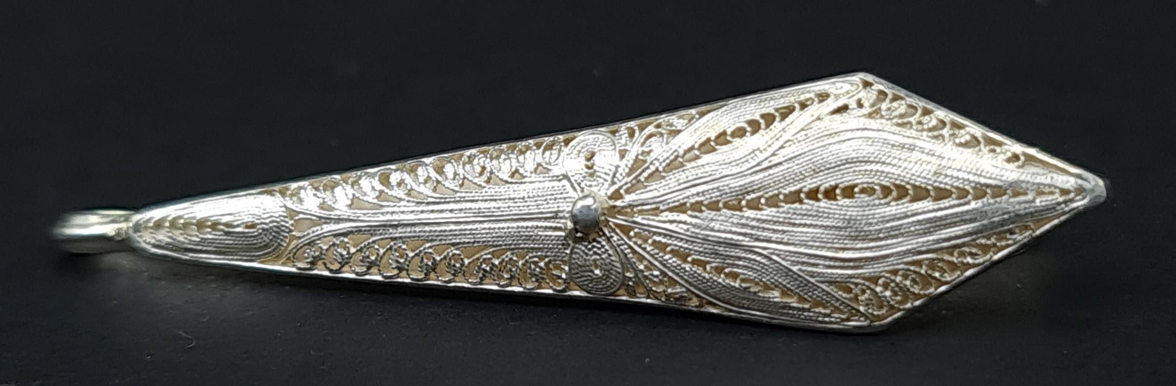 stropdas speld das speld dasspeld stropdas zilver fijn zilveren stropdasspeld filigraan zilver filigrain silver tieclip skoander.com