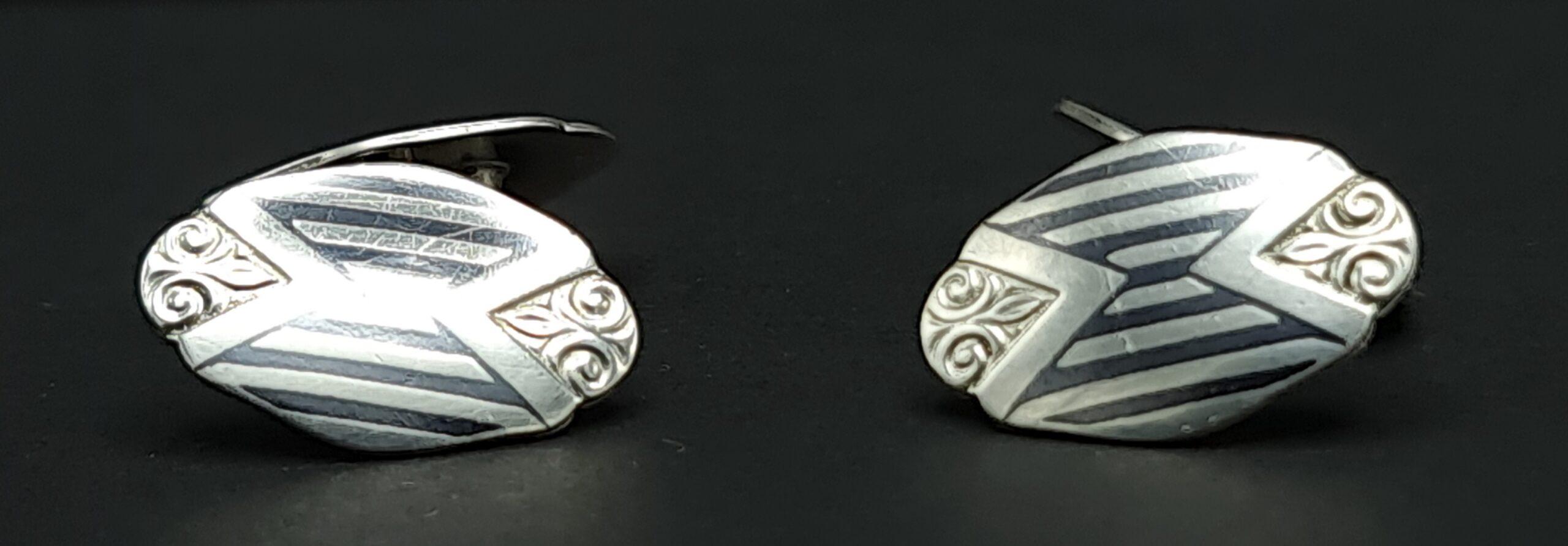 djokja manchetknopen ps800 manchetknopen niello silver cufflinks niello zilver thailand niello silver skoander.com