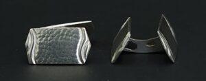 zilver AF.* meesterteken a j fibbe rotterdam manchetknopen gehalte 835 zilver jugendstil art deco jumelles jumeaux manchetknopen zilver skoander.com