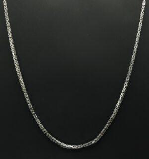 koningsketting zilver 925 bijzantijnse ketting zilver 925 sterling zilver konings ketting 3 mm 3mm byzantijnse ketting skoander.com