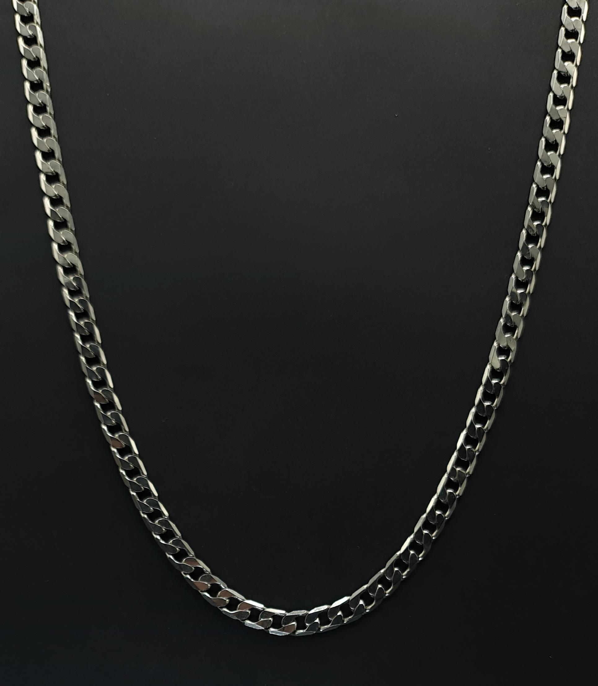 zilveren ketting heren 925 zilver halsketting platte schakel massief zilver ketting sterling zilver silver necklace skoander.com