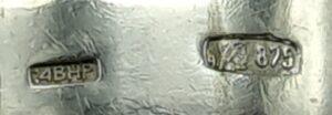russisch zilver ring niello floraal decor gehalte 875 rusland russische zilveren ring hallmark :4bhp russia silver skoander.com