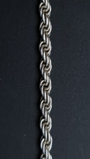armband gedraaid zilver rope armband 925 zilveren dames armband gevlochten zilver draai zilver amband touw zilveren armbandje skoander.com