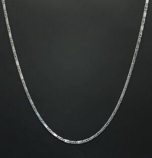 dames ketting zilver figaro stijl 42 cm 925 zilver collier 925 zilver halsketting dames 925 zilver figaro massief zilver skoander.com