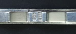 silver hallmark rj tie clip das speld rj massief zilver 835 silver tieclip solid silver tie vintage tie clip vintage dasspeld masssief zilver skoander.com