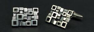 70er jaren manchetknopen manchet knopen zilver massief blok design vierkant design massief zilver manchet knopen 825 zilver skoander.com