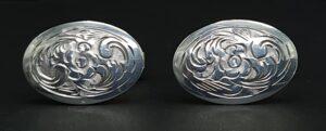zilveren manchetknopen 800 zilver paolo lapo italia silver italy silver geciseleerde manchetknopen chiseld silver cufflinks 800 zilver manchetknopen bloem motief floraal decor italiaanse manchetknopen zilver skoander.com