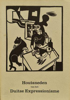 houtsneden van het duitse expressionisme hans marcelle van der grinten van reeken museum paperback am tisch sitzende frau mit katzeund fisch heinrich campendonk 1988 skoander.com