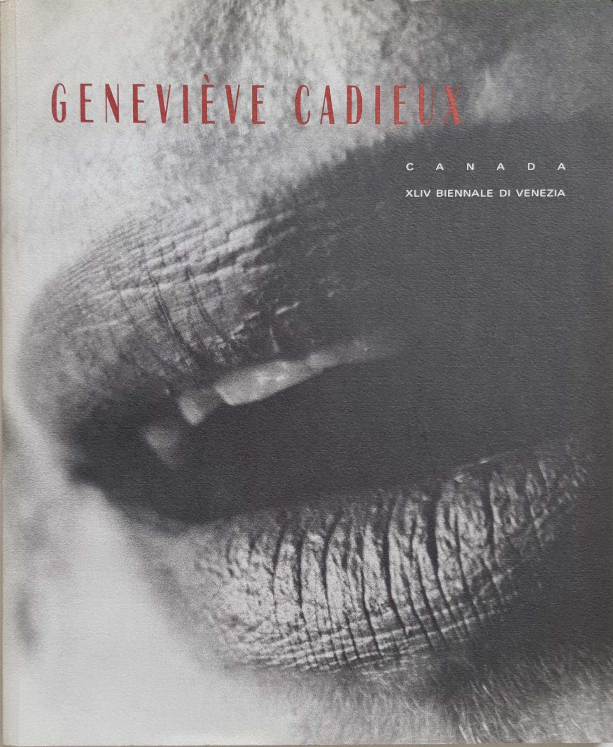 Genevieve Cadieux Canada XLIV Biennale di Venezia Tentoonstellingscatalogus 27-06-1990 30-09-1990 Taal Engels Italiaans Frans1990 ISBN 2-920284-10-x isbn 292028410x ISBN 9782920284104 skoander.com