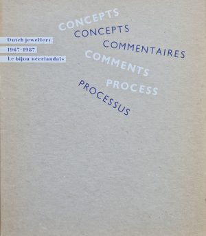 Dutch jewellery 1967 1987 Concepts comments process 96 pagina's 1987 Engels, Frans Afmeting 23 x 26 cm boek dutch jewellery zeldzaam boek nederlandse juwelen boek concept sieraden skoander.com